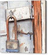 Garage Lock Number One Acrylic Print