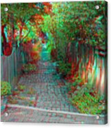 Garden Alley - Use Red-cyan 3d Glasses Acrylic Print