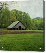 Garden And Barn Acrylic Print
