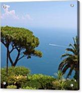 Garden And Bay Of Naples Acrylic Print