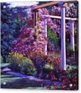 Garden Arbor Acrylic Print by David Lloyd Glover