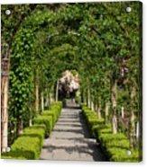 Garden Arbor Path Acrylic Print