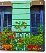 Garden Balcony Acrylic Print