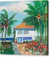 Garden Beach House Acrylic Print