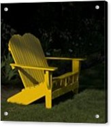 Garden Bench Yellow Acrylic Print