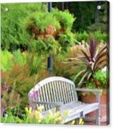 Garden Benches 5 Acrylic Print