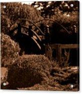 Garden Bridge Acrylic Print