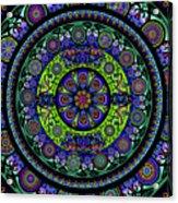 Garden Buddha Mandala Acrylic Print