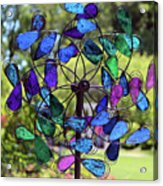 Garden Colored Fan Acrylic Print