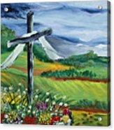 Garden Cross Acrylic Print