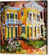 Garden District Home  Acrylic Print