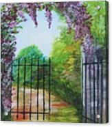 Garden Entrance Acrylic Print