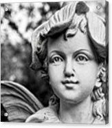 Garden Fairy - Bw Acrylic Print