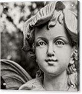Garden Fairy - Sepia Acrylic Print