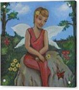 Garden Fairy Acrylic Print