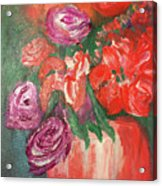 Garden Flowers In Vase 1 Acrylic Print