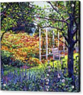 Garden For Dreaming Acrylic Print by David Lloyd Glover