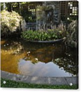 Garden Fountain Pond Acrylic Print