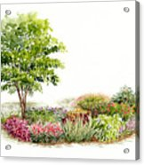 Garden Fresh Watercolor Painting Acrylic Print
