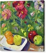 Garden Fruit And Flowers Acrylic Print