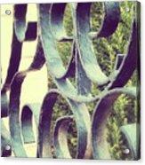 Garden Gate 2 Pair Acrylic Print