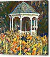 Garden Gazebo Watercolor Acrylic Print