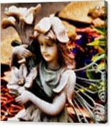 Garden Girl Acrylic Print