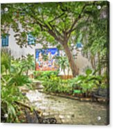 Garden In The Square Acrylic Print