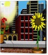 Garden Landscape II - Across The Urban Jungle Acrylic Print