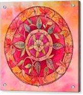 Garden Mandala Acrylic Print