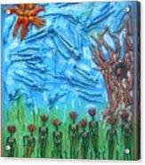 Garden Of Eden Nature Overwhelming Itself Acrylic Print