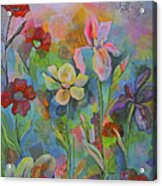 Garden Of Intention - Triptych Center Panel Acrylic Print