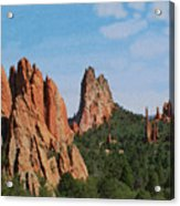 Garden Of The Gods Colorado De  Acrylic Print