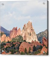 Garden Of The Gods From A Distance Acrylic Print