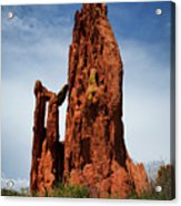 Garden Of The Gods Tower Formation Acrylic Print