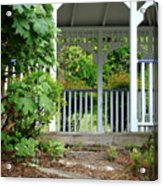 Garden Path And Gazebo Acrylic Print