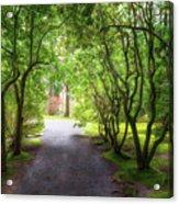 Garden Path In Spring Acrylic Print