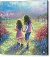Garden Sisters Acrylic Print