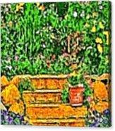 Garden Sketches 1 Acrylic Print