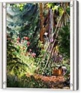 Garden View Window Acrylic Print