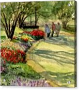 Garden Walk Acrylic Print
