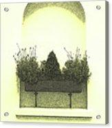 Garden Wall Box Acrylic Print