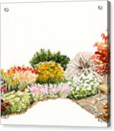 Garden Wild Flowers Watercolor Acrylic Print