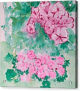 Garden With Pink Flowers Acrylic Print