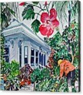 Gardening Acrylic Print