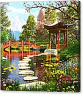 Gardens Of Fuji Acrylic Print