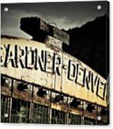 Gardner Denver Acrylic Print by Merrick Imagery