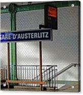 Gare D'austerlitz In Paris, France Acrylic Print