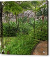 Garfield Park Conservatory Pond And Path Chicago Acrylic Print