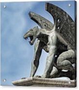 Gargoyle - Puente Del Regn Bridge - Valencia Spain Acrylic Print